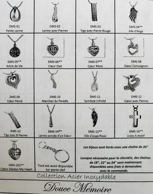 Reliquaires chainettes et porte clef